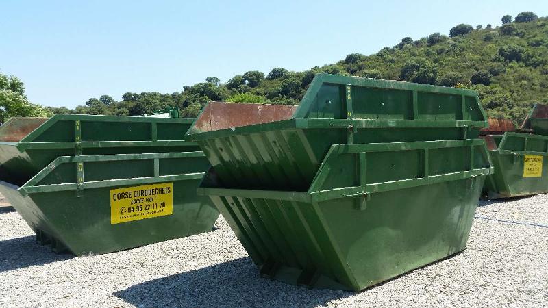 Location de bennes de toutes tailles et de toute nature pour la récupération des déchets à Sarrola-Carcopino   Corse Eurodéchets